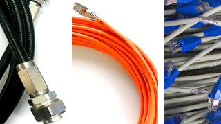 Coaxial and data assemblies