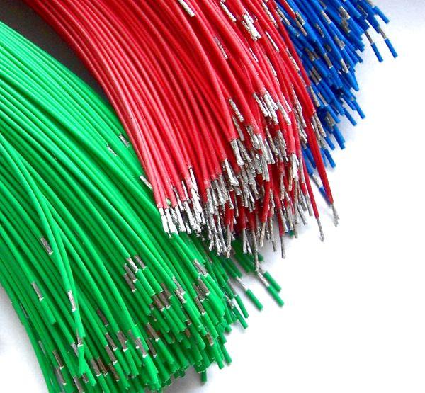 Lanka s částečným odsunem izolace / Half stripped wires