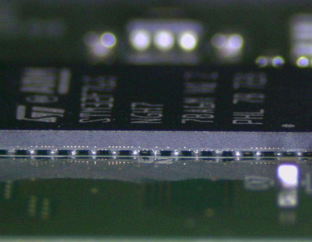 Ukázka optické inspekce zapájení BGA pouzdra / An example of the BGA device soldering